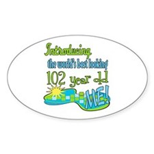 Best Looking 102nd Oval Decal