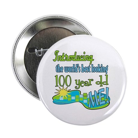 """Best Looking 100th 2.25"""" Button (10 pack)"""