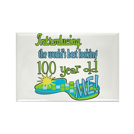 Best Looking 100th Rectangle Magnet (10 pack)