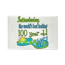 Best Looking 100th Rectangle Magnet