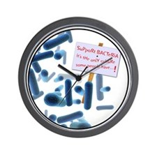 Cute Support bacteria Wall Clock