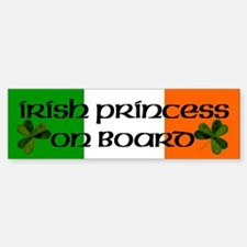 Irish Princess on Board Bumper Bumper Bumper Sticker