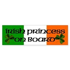 Irish Princess on Board Bumper Bumper Sticker