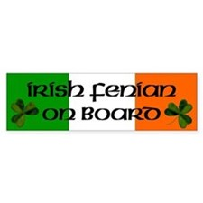 Irish Fenian on Board Bumper Car Sticker