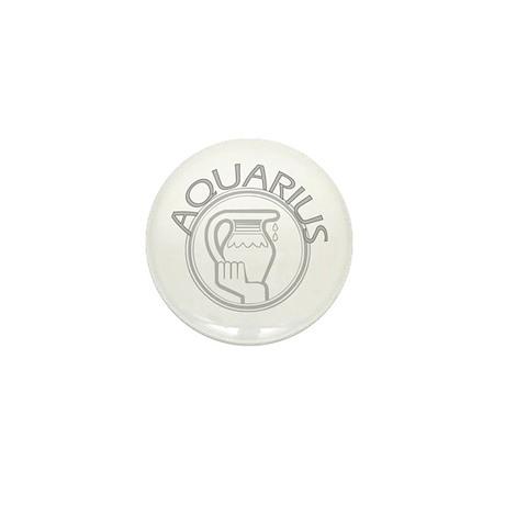 Gray Aquarius Mini Button (100 pack)