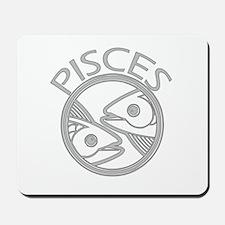 Gray Pisces Mousepad