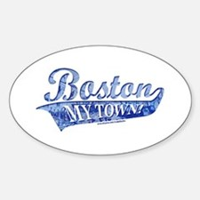 Boston My Town Blue Oval Decal