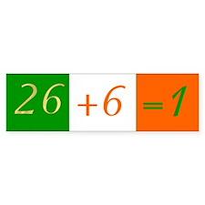 26+6=1 (Tricolor) Bumper Bumper Sticker