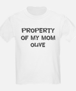 Property of My Mom Olive T-Shirt