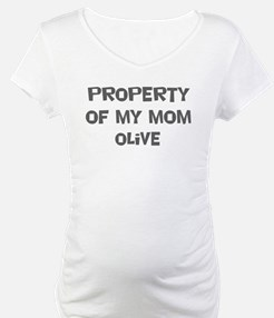 Property of My Mom Olive Shirt