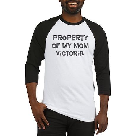 Property of My Mom Victoria Baseball Jersey