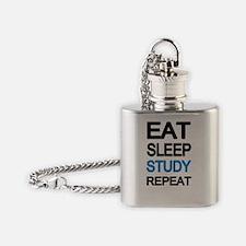 Eat sleep study Flask Necklace