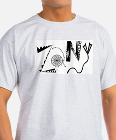 Zany Ash Grey T-Shirt