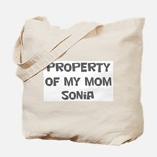Property of My Mom Sonia Tote Bag