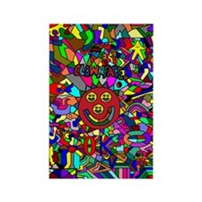 Clownface OK Rectangle Magnet