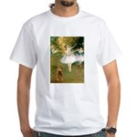 Dancers / Cocker (brn) White T-Shirt