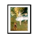 Dancers / Cocker (brn) Framed Panel Print