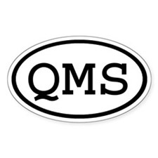 QMS Oval Oval Decal