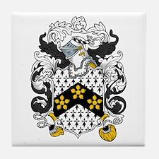 Hatfield Family Crest Tile Coaster