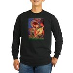 Angel (3) & Cocker (7) Long Sleeve Dark T-Shirt