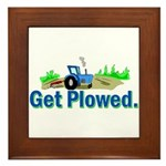 Get Plowed. Framed Tile