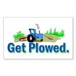 Get Plowed. Sticker (Rectangle 10 pk)
