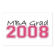 MBA Grad 2008 (Pink) Postcards (Package of 8)