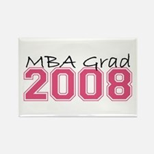 MBA Grad 2008 (Pink) Rectangle Magnet