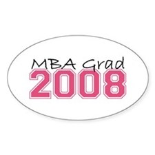 MBA Grad 2008 (Pink) Oval Decal