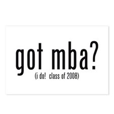 got mba? (i do! class of 2008) Postcards (Package