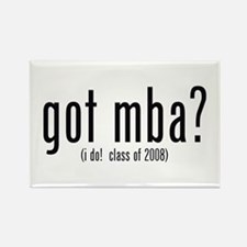 got mba? (i do! class of 2008) Rectangle Magnet