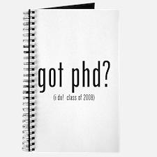 got phd? (i do! class of 2008) Journal