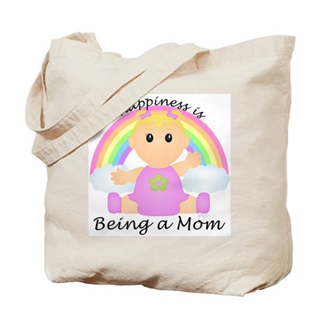 Happiness is: Mom (BG:rain) Tote Bag