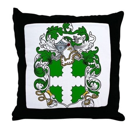Hawley Family Crest Throw Pillow