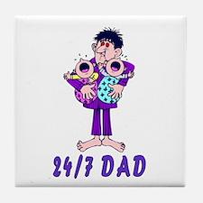 24/7 Dad Tile Coaster