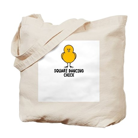 Square Dancing Chick Tote Bag