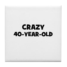 Crazy~40-Year-Old Tile Coaster