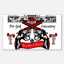For God & Country! Decal
