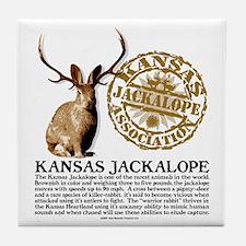 Kansas Jackalope Association Tile Coaster
