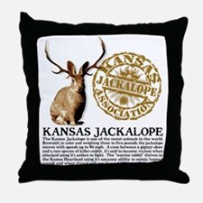 Kansas Jackalope Association Throw Pillow