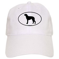 Scottish Deerhound Oval Baseball Cap