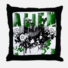 Alien Vector Design 7 Throw Pillow