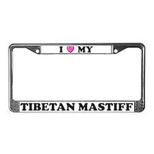 I Heart My Tibetan Mastiff License Plate Frame