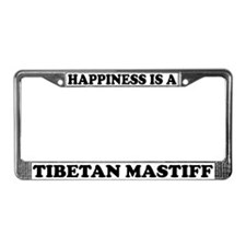 Happiness Is A Tibetan Mastiff License Plate Frame