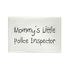 Mommy's Little Police Inspector Rectangle Magnet