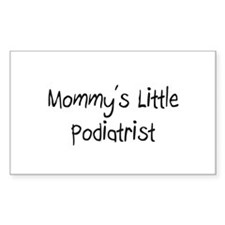 Mommy's Little Podiatrist Rectangle Decal
