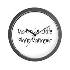 Mommy's Little Plant Manager Wall Clock