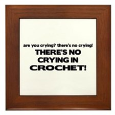 There's No Crying in Crochet Framed Tile