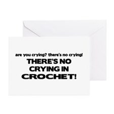 There's No Crying in Crochet Greeting Cards (Pk of