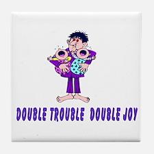 Double Trouble Double Joy Tile Coaster